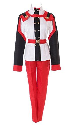 MN-43 Asuna Sword Art Online SAO Ordinal Scale weiß rot Oberteil Hose Anzug 4-telig Set Anime Manga Cosplay Kostüm (M)