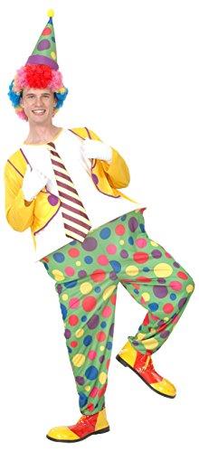 FIORI PAOLO-Payaso Disfraz Adulto Mens, multicolor, talla 52-54, 62004