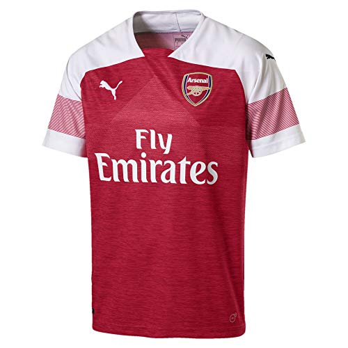 Puma Herren Arsenal Fc Home Shirt Replica Ss with Epl Sponsor Logo Trikot, Mehrfarbig (Chili Pepper Heather/White), Medium