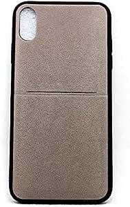 جراب خلفي مع جيب لاجهزة ابل ايفون اكس اس ماكس شاموا - رمادي