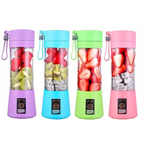 Pinzheng Portable blender usb mixer electric juicer machine smoothie blender mini food processor personal blender cup juice blenders (Color : Pink)