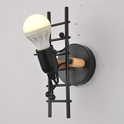 De enige goede kwaliteit decoratie zwart/wit smeedijzer retro industriële wandlamp persoonlijkheid eenvoudige gang slaapkamer woonkamer veranda verlichting
