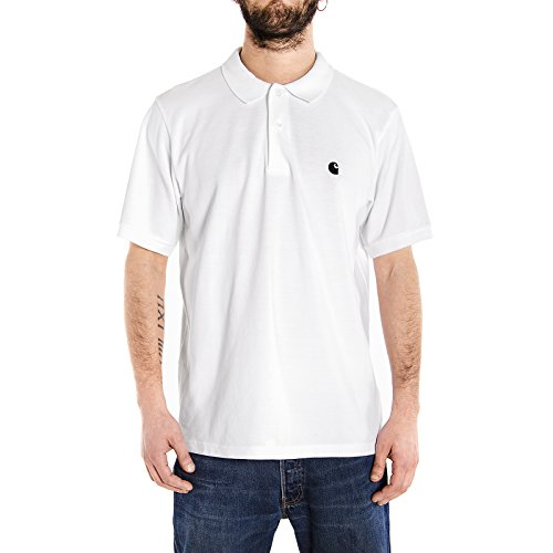 Carhartt Herren Ch S/S Chase Piqu Poloshirt, Weiß (Bianco), Medium
