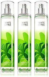 Lot of 3 Bath & Body Works White Citrus 8.0 oz Fine Fragrance Mist