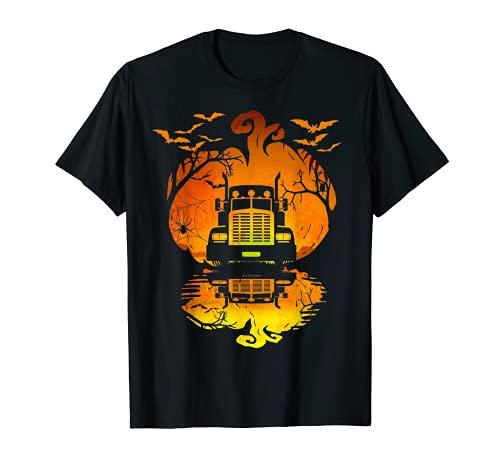 Disfraz de camionero con silueta de calabaza, Halloween Camiseta