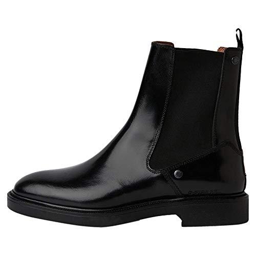 G-STAR RAW Womens Corbel Chelsea Boot, Black, 35 EU