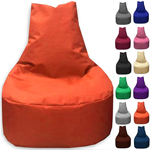 Sitzbag Sitzsack Sessel XL - XXL für Kinder und Erwachsene - In & Outdoor Sitzsäcke Kissen Sofa Hocker Sitzkissen Bodenkissen (XXL - 80cm Durchmesser, Orange)