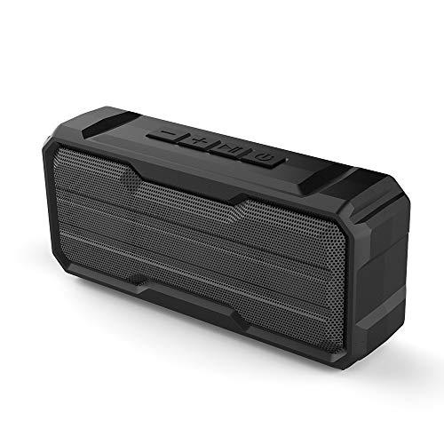 Tany Bluetooth Lautsprecher Tragbarer Wasserschutz Kabelloser Lautsprecher, mit Eingebautem Stoßfest Mikrofon USB-Anschluss/TF-Karte Eingebaut 2 Bluetooth Lautsprecher, Duale Bass-Treiber