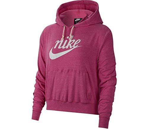 Nike Sportswear Gym Vintage Sudadera con capucha para mujer - CJ1691, Nike Sportswear Gym clásico Sudadera con capucha para mujer, S, Fucsia cósmica/(Sail)