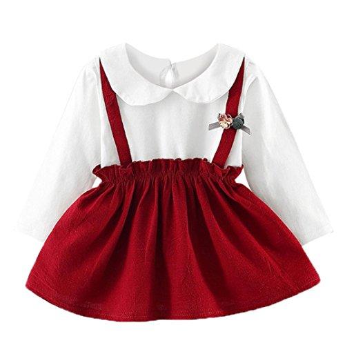 K-youth Niñas Vestido Liquidación Linda Vestido Niñas Fiesta Ropa Bebe Niña Verano Elegante Vestido de Princesa Vestido para Niñas Vestidos Bebe Niña Manga Larga Chic 2018