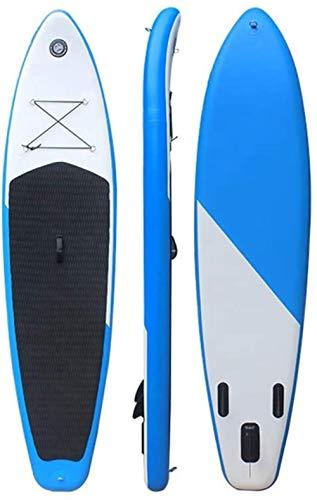Stand-Up Paddleboarding, Sup Surf Hinchable con Stand Up Paddle Board para la navegación, el Surf de Control, Plataforma Antideslizante, jóvenes y Adultos de pie en el Barco
