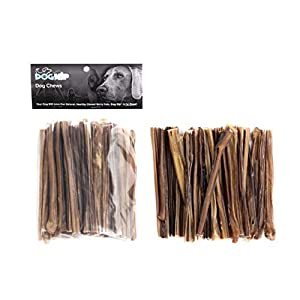 Dog Nip 6-Inch Bully Jr Odor Free Extra Thin Bully Sticks (25 Pack) All Natural & Odorless Bully Pizzle Bone – Best Dog Chew Dental Treats For Light Chewers