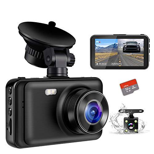 【2020最新版・超暗視型ドラレコ】 ドライブレコーダー 前後カメラ Sony IMX294センサー 32GB SDカード付き...