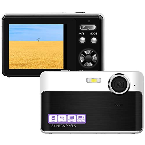Digital Camera Mini Video Camera Point and Shoot Camera 24inch 24 MP HD Students Digital Camera for Kids Teenagers Beginners