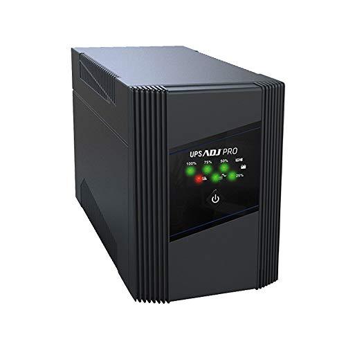 ADJ Gruppo di Continuità Serie PRO 1600VA Line Interactive Ups 1070 Watt Onda Sinusoidale Simulata AVR 6 Uscite IEC 320 C13 USB RJ45/RJ11 In/Out 2 Batterie 12V 7Ah (LxWxH 316x148x198 mm)