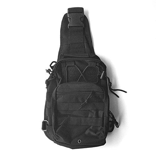 Continu® Multifonctionnel Military Tactical Épaule Sac à Dos Poitrine pour Camping Voyage Randonnée-Noir