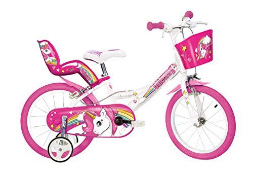 Dino Bikes 144R-UN - Einhorn-Fahrrad, weiß/rosa