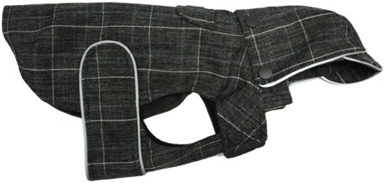 RC Pet Products Robson Rain Wear Dog Coat, Size 14, Coal Twill