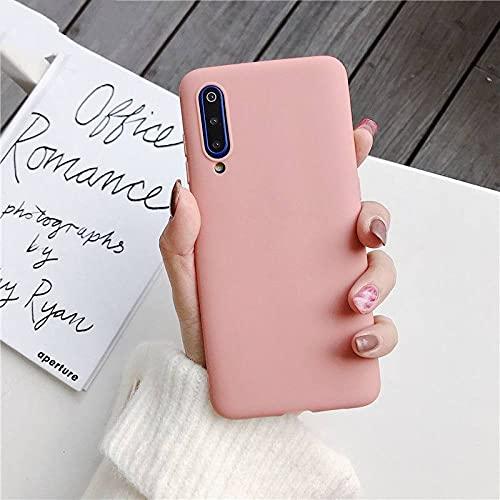 Caja del teléfono del silicón del Color del Caramelo para Samsung Galaxy a50 a70 a30 a40 a20 a10 galaxi a51 a71 a20e m30s a7 2018 Matte Soft TPU Cases, Orange, for a40