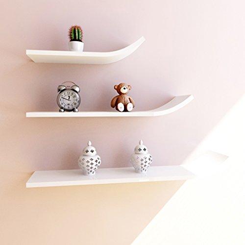 Étagère murale étagère décoration cadre étagère mode busset étagère tv mur de fond j type tour de stockage (Couleur : Blanc)