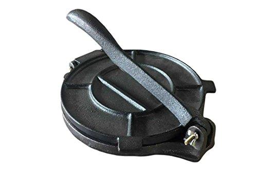 ATI 8-Inch Cast Iron Tortilla Press with Handle, Black