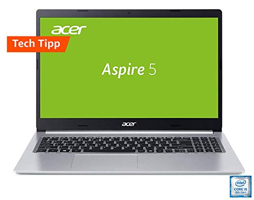Acer Aspire 5 (A515-54G-59WR) 39,6cm (15,6 Zoll Full-HD IPS matt) Multimedia Laptop (Intel Core i5-8265U, 8 GB RAM, 512 GB PCIe SSD, NVIDIA GeForce MX250, Win 10) silber