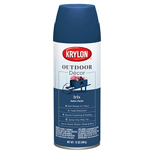 Krylon Outdoor Décor Spray Paint, Iris, 12 Ounce