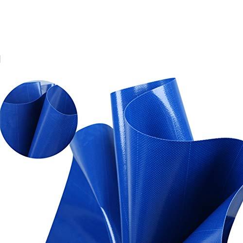 LHR Dekzeil Waterdicht Zwaar Dekzeil Waterdicht Zwaar Dekzeil Met Oogjes voor Tuinmeubelen/Hutch/Trampoline/Hout/Auto/Camping/Tuinieren - 550g/m2 - Blauw