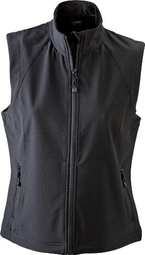 James & Nicholson Damen Jacke Softshellweste schwarz (black) Large
