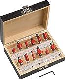 Meister Fresa de 12piezas)–para la edición de madera–para fresadoras con 8mm vástago–Metal Duro/fresa/púas Fresa/enrasar/Cuartos Varilla Fresa/Paleta Fresa/fresa/5644460