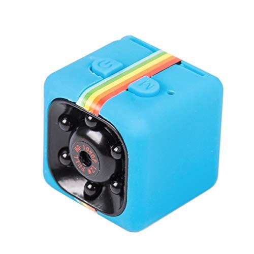 Funnyrunstore SQ11 Mini Micro HD Cámara Dados Video Visión Nocturna HD 1080P 960P Videocámara Sensor de Movimiento Cámara Monitores WiFi Remoto Azul