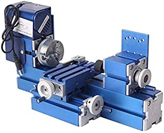 Hengwei Mini Motorized Lathe Machine 24W DIY Tool Metal Woodworking Hobby Modelmaking For Youth Activity Center, School General Technical Room, Science and Technology Activity Room Equipment
