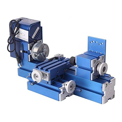 Mini Metal Lathe Machine CNC DIY Tool Benchtop Wood Lathe Woodworking for Hobby Sience Education Modelmaking, AC100V~240V 50/60HZ