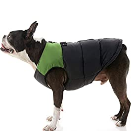GOOBY Padded Cold Weather Vest for Small Dogs with Safe Fur Guard Zipper Closure