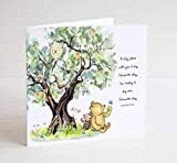 Winnie the Pooh Greeting card for Birthday or anniversary