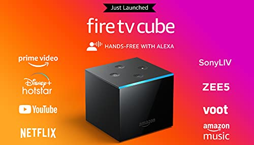 Fire TV Cube | Hands-free streaming device with Alexa | 4K Ultra HD | 2021 release