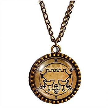 Seal Sigil Of Belial Necklace Pendant Fashion Jewelry Lesser Key Of Solomon Goetia Demon Sigils Symbol Art Cute Gift Cosplay Charm