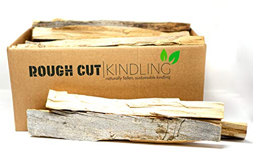 Rough Cut Naturally Fallen, Sustainable Kindling - Firewood for Fire Pits, Fireplaces, and Wood Stoves (12 Pounds / 1 Cubic Foot)