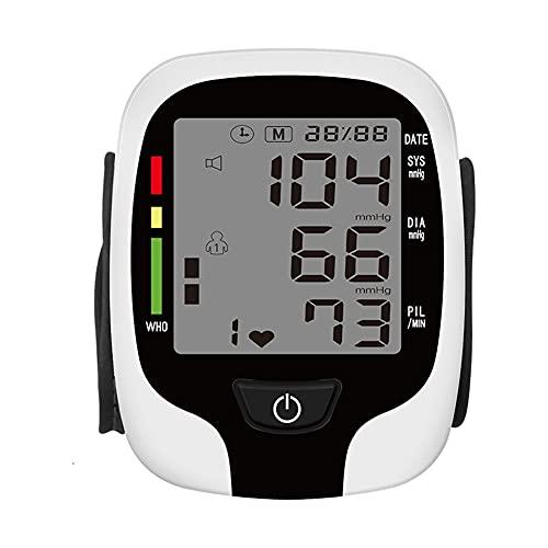 QIU Monitor de presión Arterial de Pulsera Kit de BP Digital automático con Pantalla LCD Grande, Monitor de muñeca Ajustable Monitor de latidos Irregulares Detección de latidos monitoreo