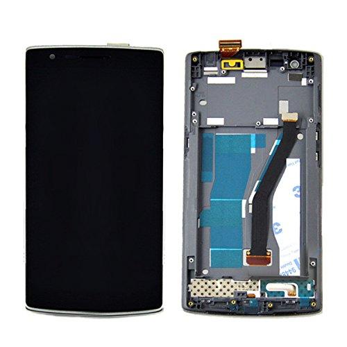SKILIWAH® Per OnePlus un 1 + ~ Display LCD e Touch Screen digitalizzatore Assembly con Frame per OnePlus 1+ riparazione Nero Parte