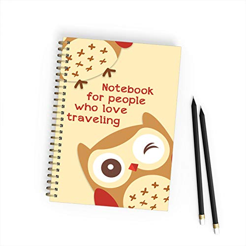 No.52. Notebook for people who love Traveling, size 6-9, 200 pages, travel...