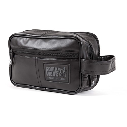 GORILLA WEAR Toiletry Bag - schwarz - Bodybuilding und Fitness Accessoires für Damen und Herren