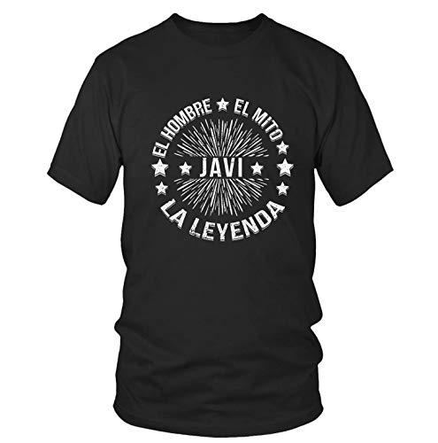Javi   Camiseta para Hombre L   El Hombre El Mito La Leyenda