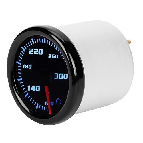 Water Temperature Gauge, DC 12V Car Water Temperature Temp Meter Gauge with 7 Color LED Display Black Shell