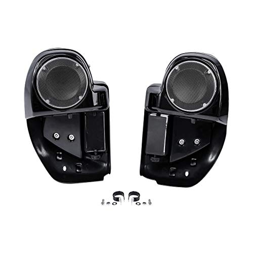 "XFMT 6.5"" Speaker Box Pod Lower Vented Fairing Compatible with Harley Touring FLHX FLTRX 14-20"