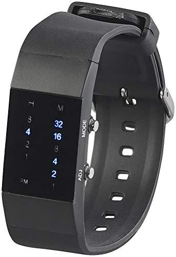 St. Leonhard Digitale Armbanduhr: Binär-Armbanduhr Future Line mit Blauer Anzeige, für Damen (Binäre Uhr)
