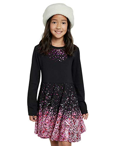 Desigual Girls Vest_SAN LUIS POTOSÍ Casual Dress, Black, 11/12