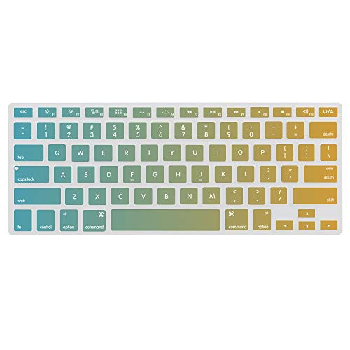Keyboard Cover Skin for MacBook Miami Dolphins Washable Silicone Keyboard Skin,13.3 inches