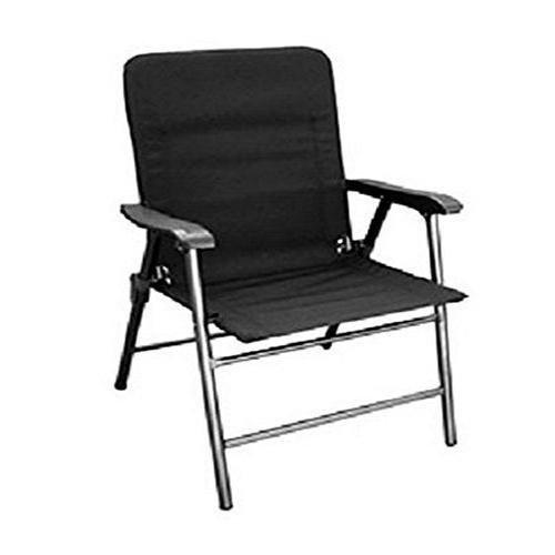 Prime Products 133349 Baja Black Elite Folding Chair