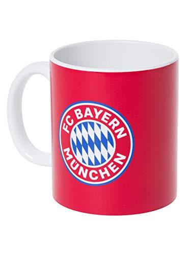 FC Bayern München Tasse rot mit Logo, offizieller Kaffee-Becher für FCB-Fans